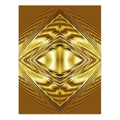 Elegant gold symmetry postcards