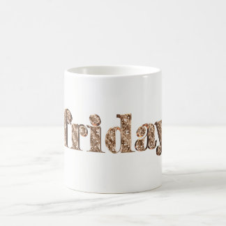 Elegant Gold Typography Day of The Week Friday Coffee Mug
