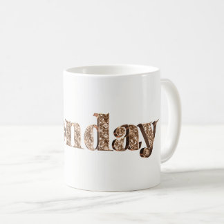 Elegant Gold Typography Day of The Week Monday Coffee Mug