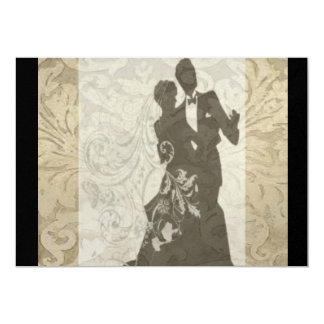 Elegant Gold Vintage Damask wedding Invitation