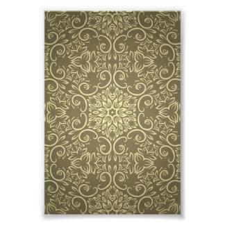 Elegant Gold Wallpaper Pattern Photo Print