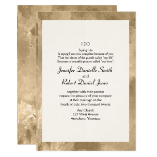 Elegant Gold Watercolor Wedding Invitation