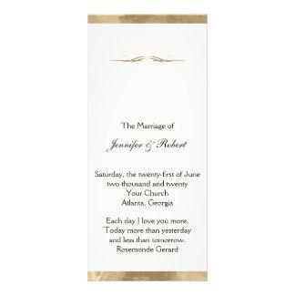 Elegant Gold Watercolor Wedding Program Rack Cards