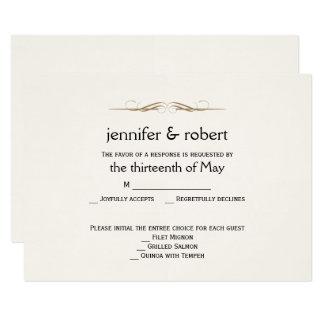 Elegant Gold Watercolor Wedding Response Card