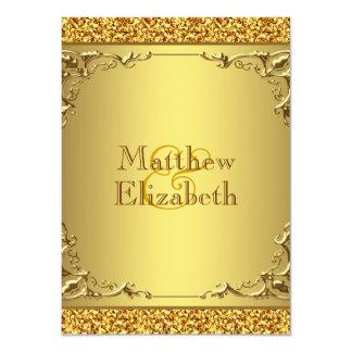 "Elegant Gold Wedding 4.5"" X 6.25"" Invitation Card"