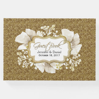 Elegant Gold Wedding Guest Book