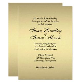 Elegant Gold Wedding Invitation