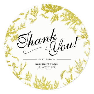 Elegant Gold Wedding 'Thank You' Card