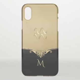 Elegant Gold Zodiac Sign Aquarius iPhone 7 Case
