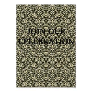 ELEGANT GOLDEN BAROQUE PATTERN INVITATION CARDS