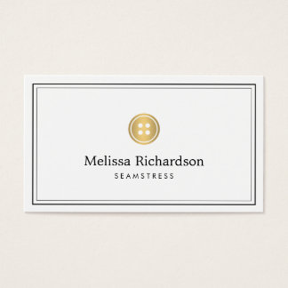 Elegant Golden Button Logo Seamstress, Tailor II