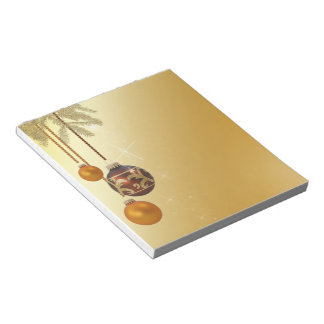 Elegant Golden Christmas - Notepad