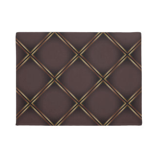 Elegant Golden Geometric Pattern Doormat