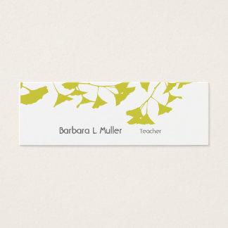 Elegant Golden Ginkgo Nature Professional Mini Business Card