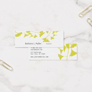 Elegant Golden Ginkgo Nature Professional Mini Business Card
