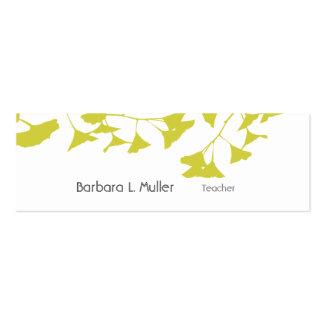 Elegant Golden Ginkgo Nature Professional Pack Of Skinny Business Cards