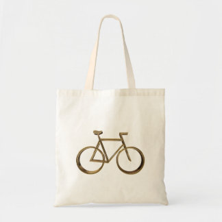 Elegant Golden Look Bike Bicycle Cycling Cyclist Tote Bag