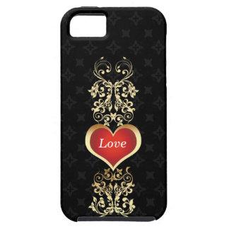Elegant Golden Love Heart  | iPhone 5 Case