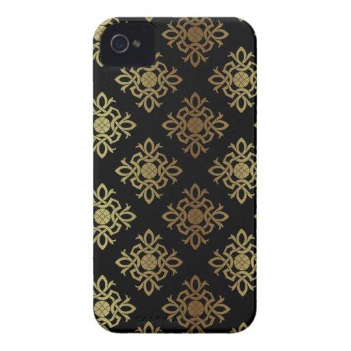 Elegant Golden  Pattern Damask Blackberry Bold Blackberry Bold Cover