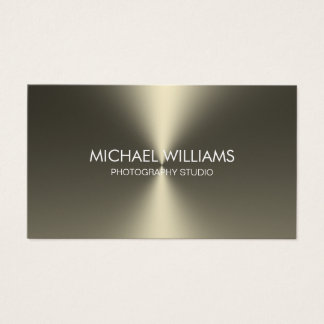 Elegant Golden Professional Shining Champagne Business Card