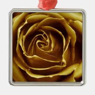 Elegant Golden Rose Ornaments