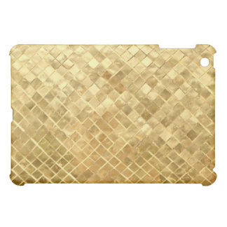 Elegant golden squared pern iPad mini cover