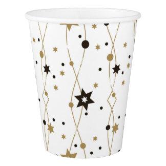 Elegant Golden Stars Paper Cup