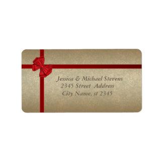 Elegant golden trendy holiday Christmas Address Label