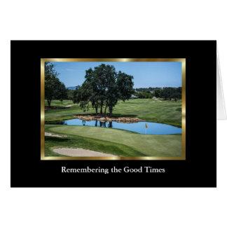 Elegant Golf Course Sympathy Card for a Golfer