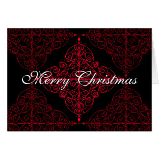 Elegant gothic Christmas ornamental design Greeting Card