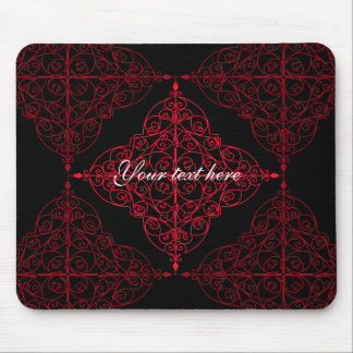 Elegant gothic Christmas ornamental design Mouse Pad