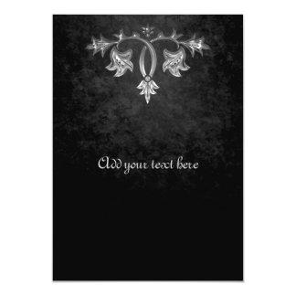 Elegant gothic dark romance wedding program 13 cm x 18 cm invitation card