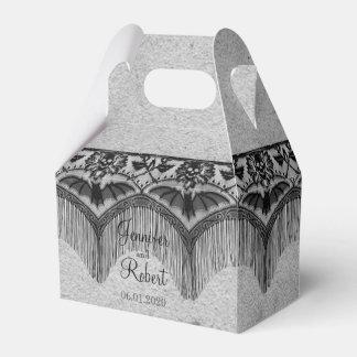 Elegant Gothic Lace Posh Wedding Favor Box
