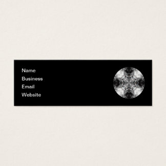 Elegant Gothic Pattern. Black and White. Mini Business Card