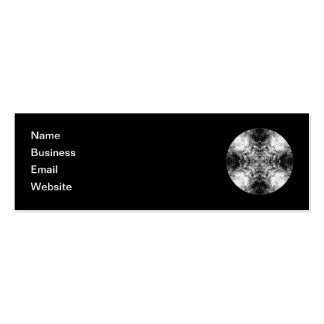 Elegant Gothic Pattern. Black and White. Pack Of Skinny Business Cards