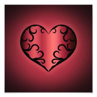Elegant gothic pinkish reddish Valentine heart Photo