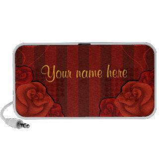 Elegant gothic red roses all occasion travelling speaker