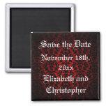 Elegant Gothic Save the Date Square Magnet