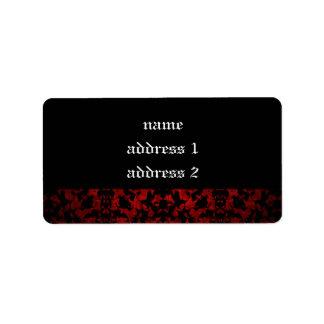 Elegant Gothic wedding address labels