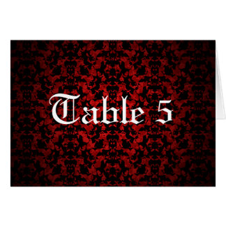 Elegant Gothic wedding table number card