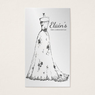 Bridal shops business cards business card printing zazzle elegant gown bridal and dress boutique 1 business card reheart Images