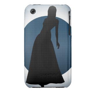 Elegant Gown Fashion Illustration iPhone(3) Case iPhone 3 Case-Mate Case