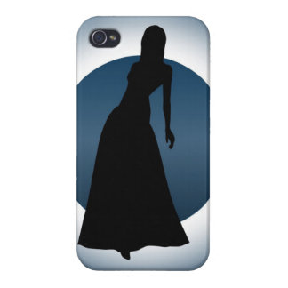 Elegant Gown Fashion Illustration iPhone(4) Savvy iPhone 4/4S Cases