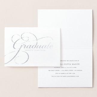 Elegant Graduate Real Foil Script Foil Card