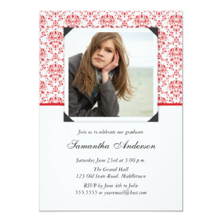 Elegant Graduation Invitation Announcement - Red