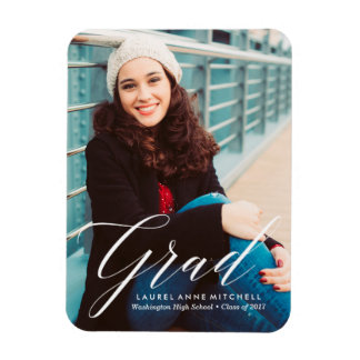 Elegant Graduation Photo Magnet
