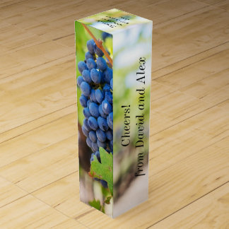 Elegant Grape Motif Custom Wine Gift GBox Wine Gift Box