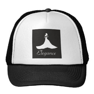 Elegant graphic tee mesh hats