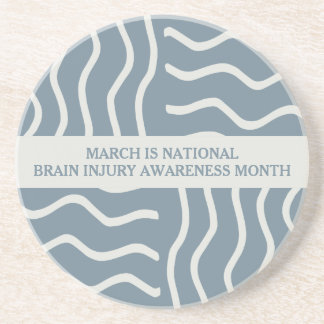 Elegant Gray Brain Injury Awareness Month Coaster