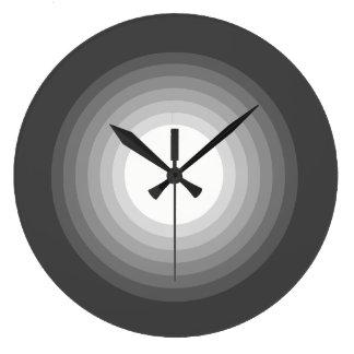 Elegant Gray Gradient Large Clock